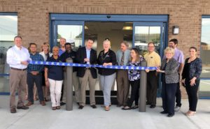 Ribbon cutting at SpaceMax Grand Opening on March 30th